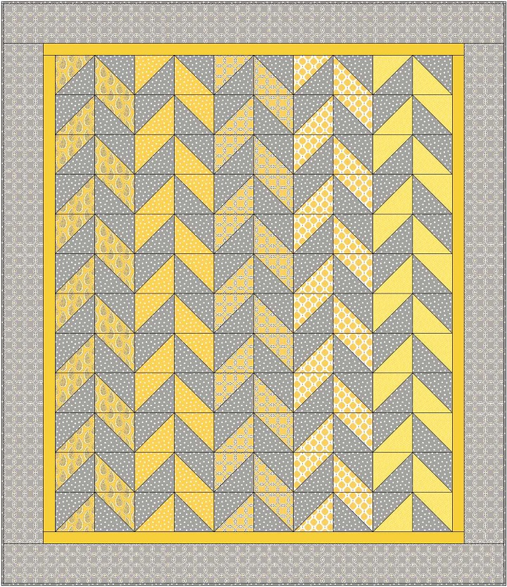 Free Quilt Pattern | Herringbone Quilt by Christa Quilts for Camelot Fabrics | Gray Matters More by Jackie McFee