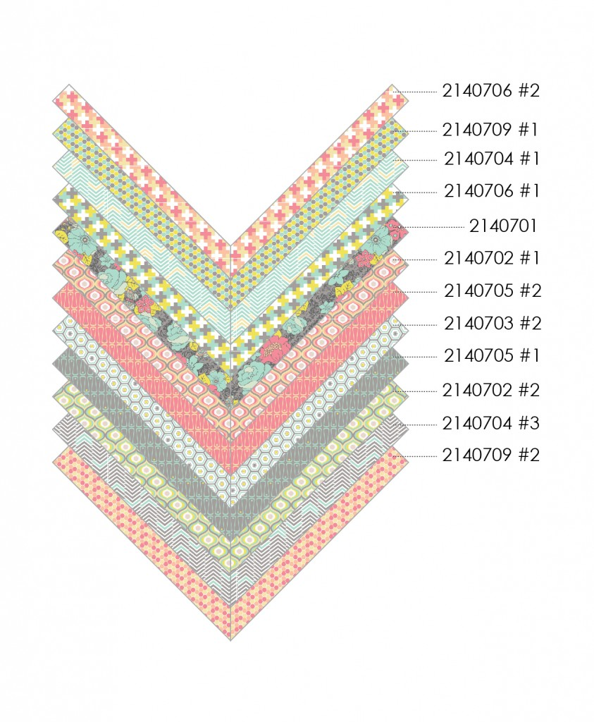 Free Projects | Cascading Chevrons Pillow Tutorial | Penelope Collection by Camelot Fabrics