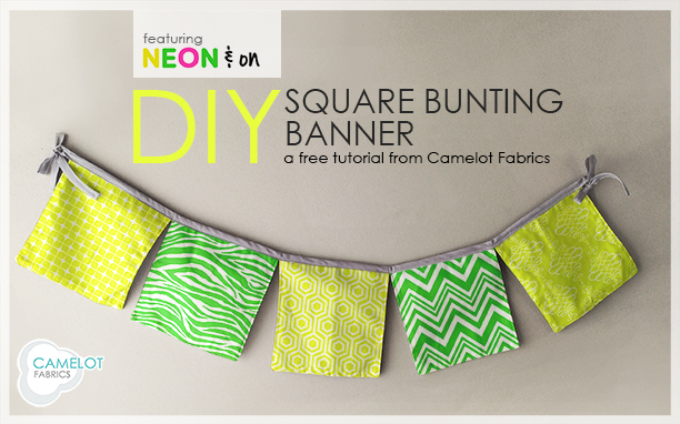 How To's Day   Square Bunting Banner Tutorial   Neon & On by Jackie McFee for Camelot Fabrics