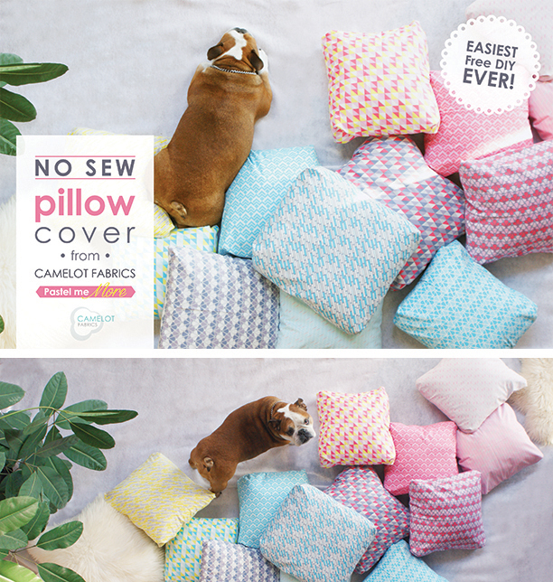 How To\'s Day: No-Sew Pillow Tutorial | Camelot Fabrics. Freshly Made